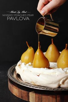 Made By Mail returns and we've sent out Whiskey for a graceful makeover. The Result is a divine Whiskey Poached Pear Pavlova and we're in love!