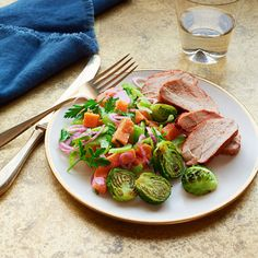 """BBQ"" Pork With Sweet Potato Salad #supercarb #healthyrecipes"