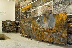 """Anselm Kiefer: work in progress on  """"Journey to the End of the Night"""" in his studio, Barjac, Monumenta,  2007."""