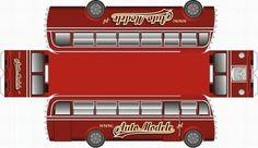 Vintage Polish Bus Paper Model - by Auto Modele - Ônibus Polonês -         Here, a cool vintage Polish Bus, by Auto Modele.