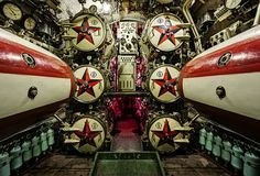 Torpedo bay of decommissioned Russian submarine