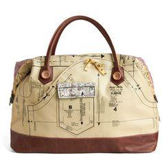 Disaster Designs Holding Pattern Overnight Bag