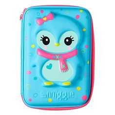 Smiggle Hardtop Pencil Case Penguin Blue Smiggle…
