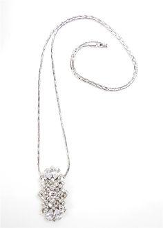 SV Couture Antique Floral Clip Necklace