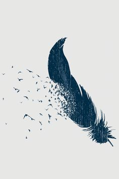 Blik Threadless Birds of a Feather. I absolutely LOVE this. I would get it in watercolor and maybe a quote beside it.