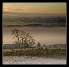 Steelrigg, Northumberland in winter - Hadrian's Wall. It gets cold up here   :-)