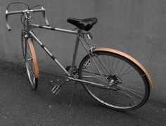 Solid wood fenders made from reclaimed wood. A great gift for your favorite cyclist.