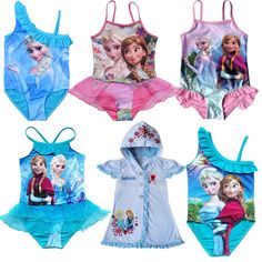 Retail-2014New-Girls-Frozen-Queen-Elsa-AnnaPeppa-Pig-Swimwear-Swimsuit-Dora-Kid-Tankini-Bikini-2-9Y.jpg (700×700)