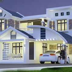 Low Cost 2 Bedroom Free House Plan in 1200 Sqft for Small Plot - Free Kerala Home Plans Single Floor House Design, Home Design Floor Plans, Bungalow House Design, House Floor, House Outside Design, House Front Design, Small House Design, Modern Exterior House Designs, Modern House Design