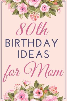 Birthday Ideas for Mom - Looking for fun ways to celebrate your Mother's birthday? Celebrate Mom's big day in style! Find the perfect birthday gifts, party ideas, decorations and wishes! 80th Birthday Party Decorations, 25th Birthday Gifts, Adult Birthday Party, Birthday Celebration, 25 Birthday, Fabulous Birthday, Birthday Wishes For Mother, Birthday Ideas For Mom, Birthday Card Sayings