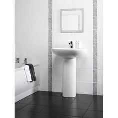 Flat Wall Tile - White - 400 x 250mm - 10 Pack