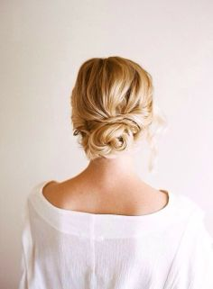 Chignon Wedding Hairstyles - is a bun created from hair curved into loops and pinned at the back of the head. Look these cool 20 Chignon Wedding Hairstyles. Low Bun Hairstyles, My Hairstyle, Pretty Hairstyles, Bridal Hairstyles, Wedding Hairdos, Bridal Updo, Summer Hairstyles, Hairstyle Ideas, Bridesmaids Hairstyles