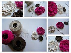 crochet thread flowers   # Pin++ for Pinterest #