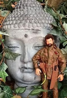 Do you walk past cool props like this Buddha head and not give them a second thought? Well, slow down and THINK. Action Toys, Action Figures, Gi Joe 1, Diy Barbie Furniture, 1960s Toys, Buddha Head, Valley Of The Dolls, Planet Of The Apes, Character Modeling