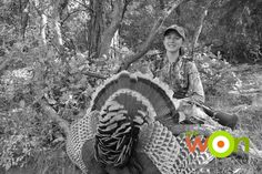 #TBT- 7 questions to ask an outfitter when taking a youth hunter on a guided turkey hunt  http://www.womensoutdoornews.com/2015/02/seven-questions-ask-outfitter-taking-youth-hunter-guided-turkey-hunt/  #TurkeyHunting #GobbleGobbleL G_with_a_huge_merriam_turkey_1