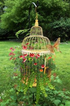 Birdcage planters are a charming way to bring a little creativity to your garden space.