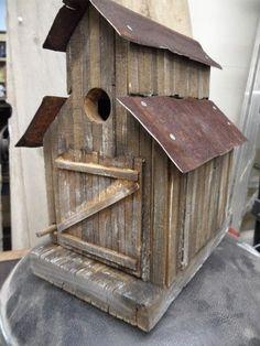 Barn birdhouse, old sawmill, rustic birdhouse, functional birdhouse, folkart… Homemade Bird Houses, Bird Houses Diy, Bird House Plans, Bird House Kits, Garden Ideas Homemade, Bluebird House, Bird House Feeder, Birdhouse Designs, Birdhouse Ideas