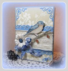 Beautiful Blue Bird ~Sympathy by Renlymat - Cards and Paper Crafts at Splitcoaststampers