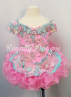 See my website for for ordering. Royalty Designs c Pagent Dresses For Kids, Pageant Dresses For Women, Toddler Pageant Dresses, Glitz Pageant Dresses, Pageant Wear, Little Girl Dresses, Beauty Pageant, Baby Girl Birthday Dress, Birthday Dresses
