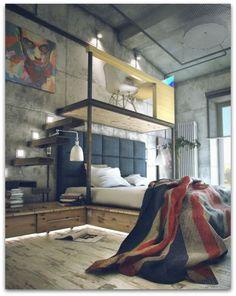 Art Symphony: Industrial-style loft...