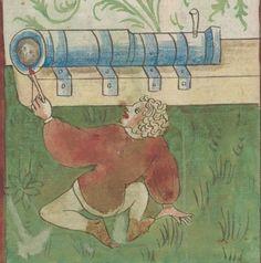 Kriegstechnik (Bilderhandschrift) Oberrhein · um 1420-1440 Ms. Rh. hist. 33b  Folio 14v