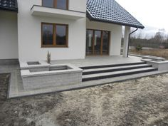 Laying paving stones, terraces, stairs shed landscaping . - Lay paving stones, terraces, stairs shed landscaping shed landsc - Terrace Design, Backyard Garden Design, Terrace Garden, Side Yard Landscaping, Landscaping Ideas, Barns Sheds, Modern Stairs, Entry Gates, Paving Stones