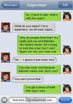 Lasso of Truth (heheh) 15 Texts from Last Night (From Famous Superheroes) Pt. 2 | Cracked.com