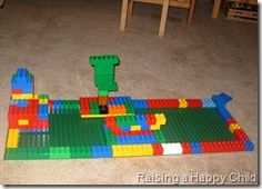 Rainforest challenge.  Challenge the kids to build a rainforest out of blocks