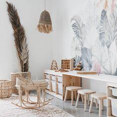 Handmade bohemian furniture for the kids room - Paul & Paula Playroom Design, Kids Room Design, Playroom Decor, Modern Playroom, Kid Decor, Decor Ideas, Cute Wall Decor, Bohemian Furniture, Bohemian Decor