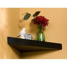 Corner hanging shelf.