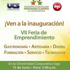 VII Feria de Emprendimiento a realizarse en las instalaciones de la Universidad Corporativa de Sigo el próximo 15 de Junio a partir de las 5:00pm. En esta feria estarán  presente emprendedores Venezolanos  #Emprendimiento  #IslaMargarita #Venezuela