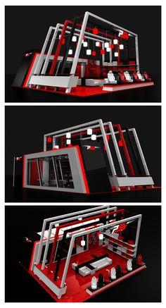 PSV Exhibition Stand on Behance Exhibition Stall Design, Exhibition Display, Exhibition Stands, Exhibit Design, Kiosk Design, Display Design, Expo Stand, Coffee Shop Interior Design, Stage Set Design
