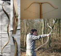 Bamboo Maple laminated doublewave Bow by tasguo on DeviantArt Traditional Bow, Traditional Archery, Sling Bow, Archery Bows, Bow Arrows, Bow Design, Diy Bow, Crossbow, How To Make Bows