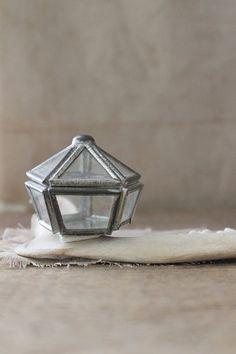 Glass trinket box