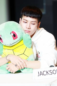 Jackson with Squrtle - Pokemon & ~ DarksideAnime Jackson Wang, Mark Jackson, Got7 Jackson, Yugyeom, Youngjae, Jaebum, Jinyoung, Banks, Rapper
