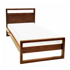 Bedroom - Chatel Single Bed Made from Ash & Ash Veneers Price-Rs.29,999/- Click on the image to buy online