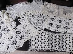 Lot of 7 Vintage Doilies Wedding Doilies Table by THISPLUSTHAT, $10.99
