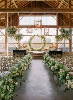 18 Stylish Indoor Wedding Aisle Decoration Ideas - Oh Best Day Ever indoor wedding ceremony ideas with floral arrangement. Wedding Aisles, Wedding Ceremony Ideas, Indoor Wedding Ceremonies, Wedding Aisle Decorations, Wedding Altars, Wedding Bouquets, Wedding Reception, Indoor Ceremony, Ceremony Arch