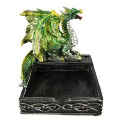 Gothic Glittery Green Dragon Memo Pad / Pen Holder by Things2Die4, http://www.amazon.com/dp/B004NQAPDO/ref=cm_sw_r_pi_dp_g-.asb07WTCQW