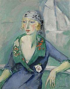 Kees van Dongen - La femme au foulard, 1921