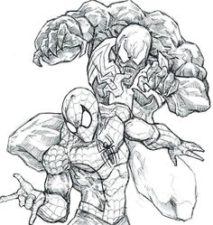 Free Printable Venom Coloring Pages For Kids | Comic Book ...