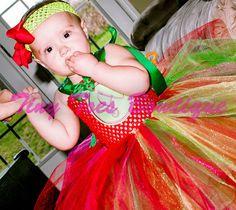 Holiday Tutu Dress by roshalsaenz on Etsy, $40.00.  www.facebook.com/tinytoesbowtique2010