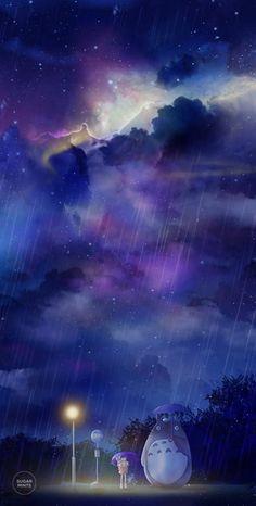 Studio Ghibli Totoro Poster: Totoro's Universe, Totoro Bus Scene, Hayao Miyazaki, Anime Art Poster,
