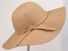 374976e0687 Onlineb2c Vintage Women Ladies Floppy Wide Brim Wool Felt Fedora Cloche Hat  Cap