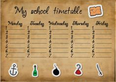 Plan lekcji school timetable