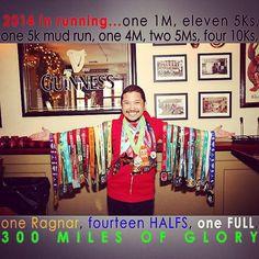 Fifty States Half Marathon Club MEMBER'S BLING #halfmarathon - 50 States Half Marathon Challenge and 100 half anywhere challenge  - 100 half marathon - 100 half marathons - 50 half marathons in 50 states - #running a half marathon in 50 states - running 100 half marathons and 7 Continents Endurance Challenge - 500 Endurance Challenge. 2014 HALF MARATHON FINISHER MEDALS of our 50 States Half Marathon Club members. www.halfmarathonclub.com