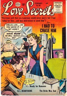 Love Secrets 50 Quality Comics Forgotten Fiance by LifeofComics valentines gift Book Cover Art, Comic Book Covers, Comic Books, Old Comics, Vintage Comics, Romantic Comics, Charlton Comics, Vintage Art Prints, Vintage Romance