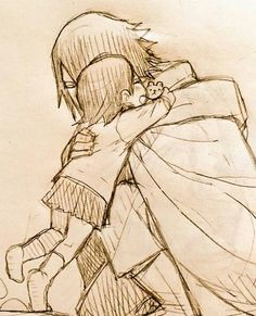 Sasuke with a baby girl is ironically fitting. It's so cute.