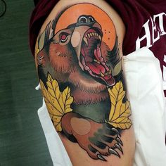 Animals animals animals, love it!  Done with @revolutionneedles #hustlebutterdeluxe #bulldogpro  #neotradsub #tattooistartmagazine #ntgallery #inkjunkeyz #uktta