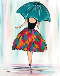 Rainy Day Chic - Sun, May 12 5PM at Park Cities Easy Canvas Painting, Diy Canvas Art, Painting & Drawing, Watercolor Paintings, Acrylic Canvas, Diy Painting, Canvas Painting Designs, Shadow Painting, Giraffe Painting